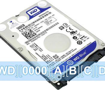 Как расшифровать обозначение модели на жестком диске Western Digital (WD)