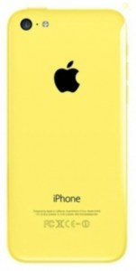 Корпус для Apple iPhone 5C желтый